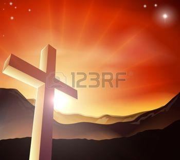 12346924-sun-rising-behind-the-cross-over-a-mountain-range-resurrection-christian-easter-concept