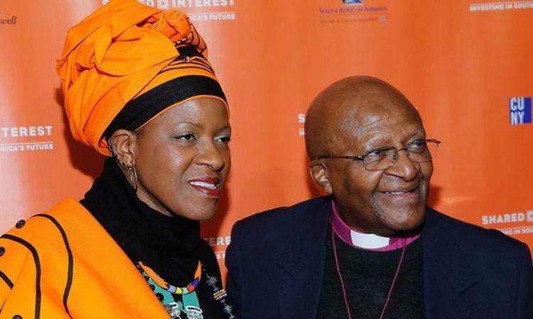 Mpho & her father Desmond Tutu