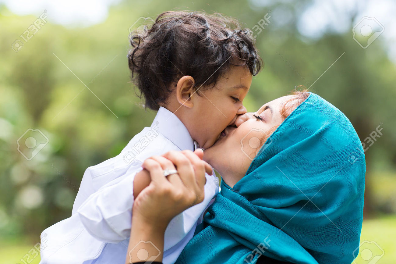 27489500-muslim-mother-kissing-her-baby-boy-close-up-Stock-Photo-family-mom-mother