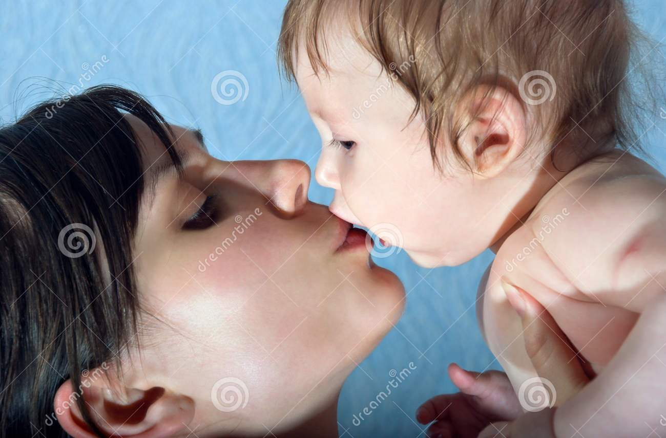 http://www.dreamstime.com/stock-image-happy-mother-kissing-baby-image21981191