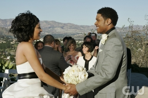 """The Wedding Episode"" -- stars in The Game on The CW. Photo: Scott Humbert/The CW.  © 2009 The CW Network, LLC.  All Rights Reserved."